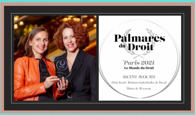 Palmarès du Droit 2021 : ASCENT lauréat d'argent